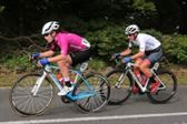 PRESS RELEASE...NO REPRODUCTION FEE...Ras na mBan 9/9/2018 Stage 6 Kilkenny- France's Coralie Demay (in pink) defends her leaders jersey from her nearest rival Nikki Juniper (in white)Pic : Lorraine O'Sullivan